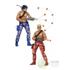 Neca Contra Action Figures 2-Pack Bill & Lance Video Game Appearance 18 cm