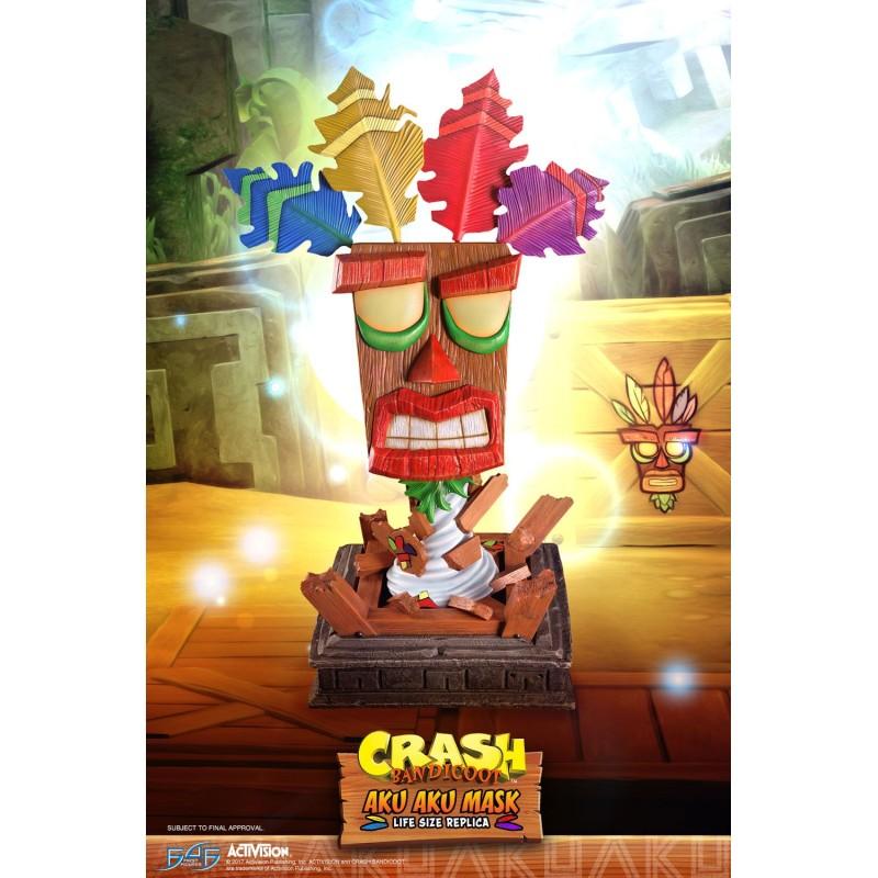 crash bandicoot life sized aku aku mask gator film game merchandise
