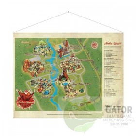 Fallout: Nuka World Map Wallscroll