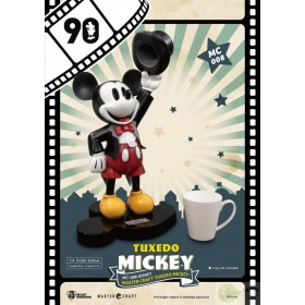 Disney Mickey Mouse Master Craft Statue 1/4 Tuxedo Mickey 90th Anniversary 47 cm