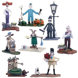 Wallace and Gromit: The Curse of the Were-Rabbit Action Figure Set (8 Included)