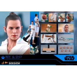 Hot Toys Star Wars: The Rise of Skywalker - Rey and D-O 1:6 Scale Figure Set