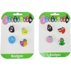 Barbapapa 8 buttons / badges