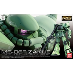 Gundam model kit MS-06F Zaku II RG 1/144