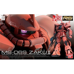 Gundam model kit MS-06S Zaku II (Char Aznable's Custom) RG 1/144