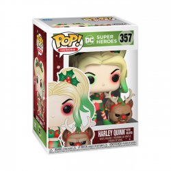 Funko Pop! DC: Holiday - Harley Quinn with Helper