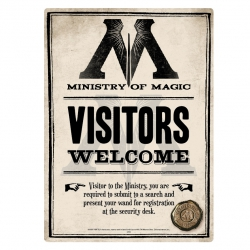 Harry Potter: Ministry of Magic Metal Sign