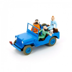 Kuifje Blauwe jeep - Raket naar de Maan TinTin Blue jeep -