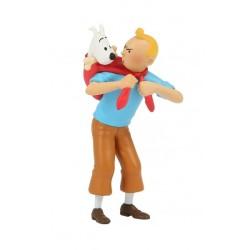 Kuifje draagt Bobbie pvc figuur Tintin brings back Snowy 6cm