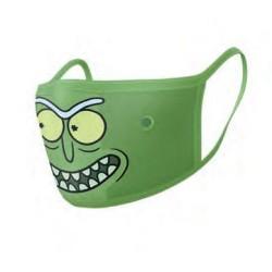 Baumwollmaske 2-pack: Rick & Morty - Pickle Rick