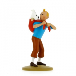 Tintin fetches Snowy 12cm