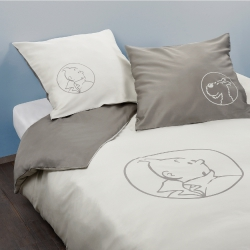 King size Duvet Cover set - Tintin & Snowy 240x220cm