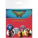 Wonder Woman 6 buttons / badges