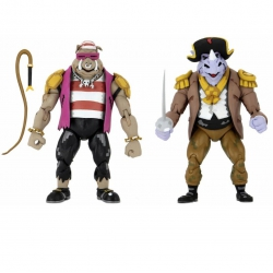 TMNT Turtles in Time Actionfigure 2er-Pack Pirate Rocksteady &