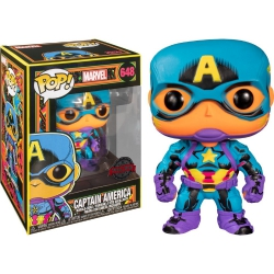 Funko Pop! Marvel: Black Light Captain America (Special Edition)
