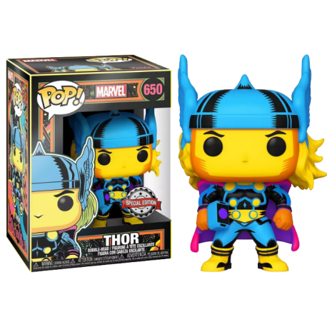 Funko Pop! Marvel: Black Light Thor (Special Edition)