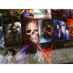 3D Fantasy Ansichtkaarten - Set van 10 stuks