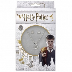 Harry Potter: Deathly Hallows Necklace and Stud Earring Set