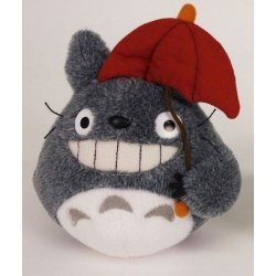 Studio Ghibli My Neighbor Totoro Plush Figure Red Umbrella 15 cm