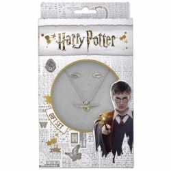 Harry Potter: Golden Snitch Necklace and Earring Gift Set