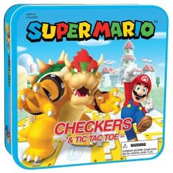 Super Mario Boardgame Dammen Checkers & Tic-Tac-Toe Mario vs.