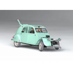 TinTin: The Broken 2CV 1/24 model