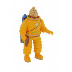 Kuifje Kosmonaut PVC figuur 8cm