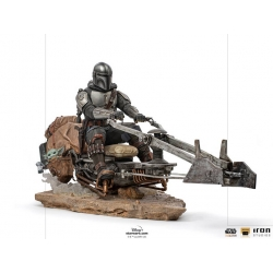 Star Wars: The Mandalorian on Speederbike Deluxe 1:10 Art Scale