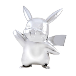 Pokémon 25th Celebration: Silver Pikachu Figurine 7.5cm