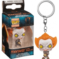 Funko Pop! Keychain: IT - Pennywise (with beaver hat)
