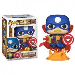 Funko Pop! Marvel: Infinity Warps - Soldier Supreme (GITD